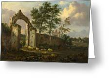A Landscape With A Ruined Archway Greeting Card