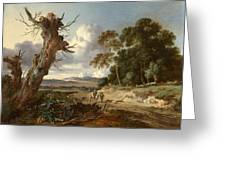 A Landscape With Two Dead Trees Greeting Card