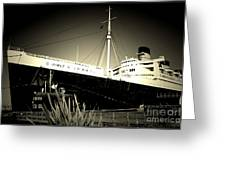 A Large Old Ship Greeting Card