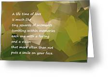 A Life Time Of Love Greeting Card