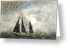 A Light Through The Storm - Sailing Greeting Card