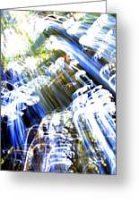 A Light Waterfall Greeting Card