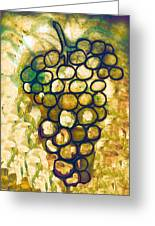 A Little Bit Abstract Grapes Greeting Card by Jo Ann