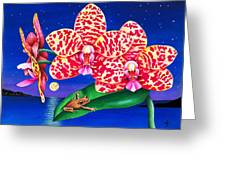 A Little Night Music Greeting Card by Carolyn Steele