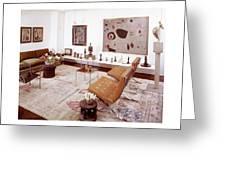 A Living Room Full Of Art Greeting Card