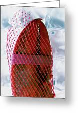 A Lobster Claw In Red Packaging Greeting Card