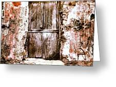 A Locked Door Greeting Card by H Hoffman