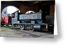 A Locomotive At The Colliery Greeting Card