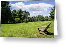 A Lone Chair In August Greeting Card