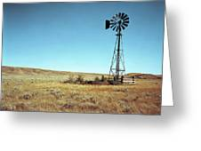A Lone Windmill Stands On The Canadian Greeting Card