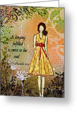A Longing Fulfilled Greeting Card by Janelle Nichol