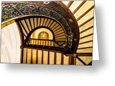 A Look Up The Stairs Greeting Card