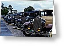 A Lot Of Classic Cars Greeting Card