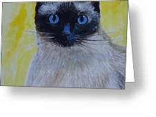 A Loving Siamese Greeting Card
