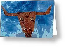 A Lucky Bull Greeting Card
