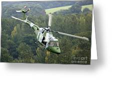 A Lynx Mk 7 Helicopter Greeting Card