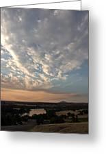 A M Clouds Lake California Greeting Card