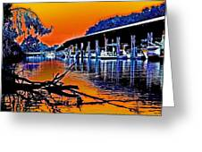 A Magical Delta Sunset Greeting Card