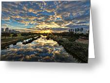 A Magical Marshmallow Sunrise  Greeting Card by Ron Shoshani