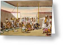 A Mahratta Surdar Entertaining Greeting Card