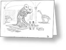 A Male And Female Paleontologist Greeting Card