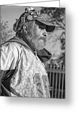 A Man With A Purpose Monochrome Greeting Card