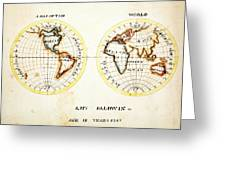 A Map Of The World  Amy Baldwin Sc Greeting Card
