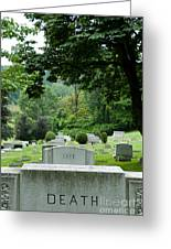 A Matter Of Life And Death Greeting Card