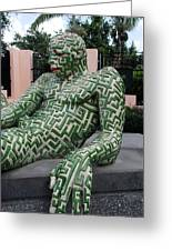 A Maze Ing Man 5 Greeting Card