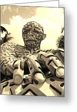 A Maze Ing Man 6 Sepia Greeting Card