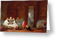 A Midnight Feast, 1866 Greeting Card by Frederick Daniel Hardy