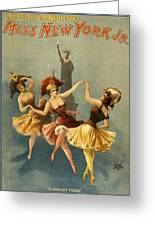 A Midnight Frolic Greeting Card by Aged Pixel