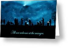 A Modern Nativity Scene Greeting Card by Julie Rodriguez Jones