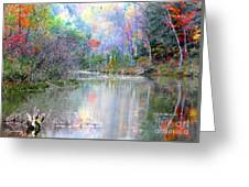 A Monet Autumn Greeting Card