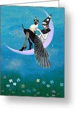A Moon Cat  Greeting Card