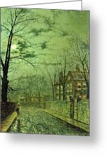 A Moonlit Road Greeting Card
