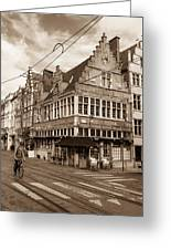 A Morning In Ghent Greeting Card