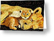 A Mother's Love - In The Den By Lcs Greeting Card
