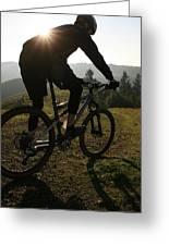 A Mountain Biker Makes His Final Greeting Card