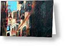 A Narrow Street Greeting Card