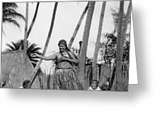 A Native Hawaiian Dancer Greeting Card
