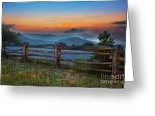 A New Beginning - Blue Ridge Parkway Sunrise I Greeting Card by Dan Carmichael