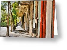 A New Orleans Alley Greeting Card