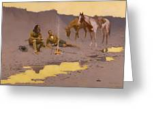 A New Year On The Cimarron  Greeting Card