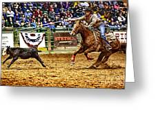 A Night At The Rodeo V10 Greeting Card