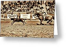 A Night At The Rodeo V11 Greeting Card