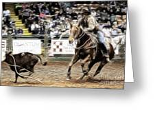 A Night At The Rodeo V12 Greeting Card