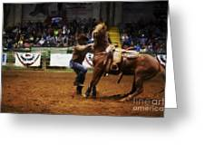 A Night At The Rodeo V13 Greeting Card
