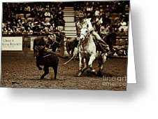 A Night At The Rodeo V14 Greeting Card