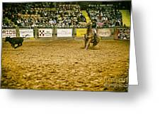 A Night At The Rodeo V15 Greeting Card